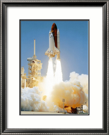 NASA Early Morning Shuttle Launch Framed Art Print