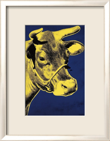 Cow, c.1971 (Blue and Yellow) Framed Art Print