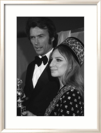 Clint Eastwood and Barbara Streisand Framed Art Print