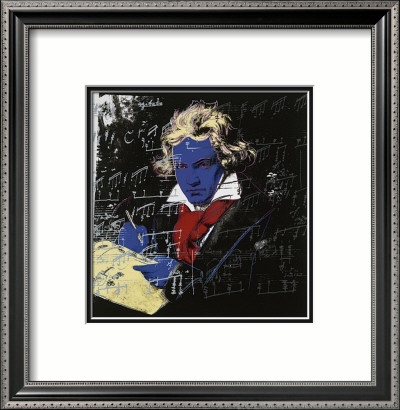 Beethoven, c.1987 (blue face) Framed Art Print