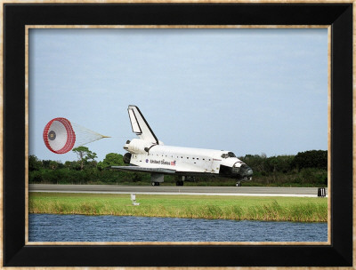 NASA Space Shuttle Landing Framed Art Print