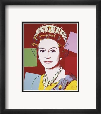 Reigning Queens: Queen Elizabeth II of the United Kingdom, c.1985 (Dark Outline) Gerahmter Kunstdruck