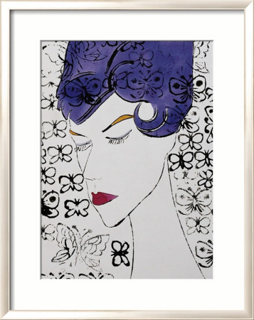 Female Head with Stamps, c.1959 Framed Art Print