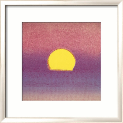 Sunset, c.1972 (pink, purple, yellow) Gerahmter Kunstdruck