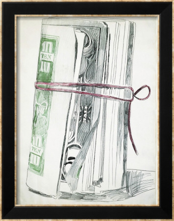 Roll of Bills, c.1962 Framed Art Print