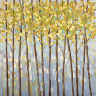 Glistening Tree Tops Art Print