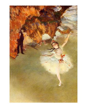 L/'ÉTOILE OU DANSEUSE SUR SCÈNE Vase Edgar Degas Ballerina Parastone SDA11