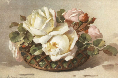 Corbeilles de Roses II Poster by C. Klein