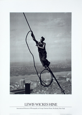 Icarus Atop Empire State Prints by Lewis Wickes Hine
