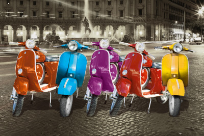 Vespas - Rome Pster