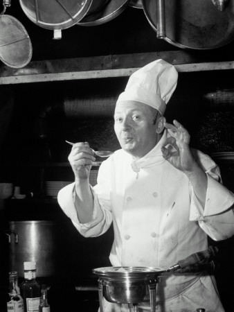 Chef Tasting Food, Ok Sign, 1942 Photographic Print by  Lambert