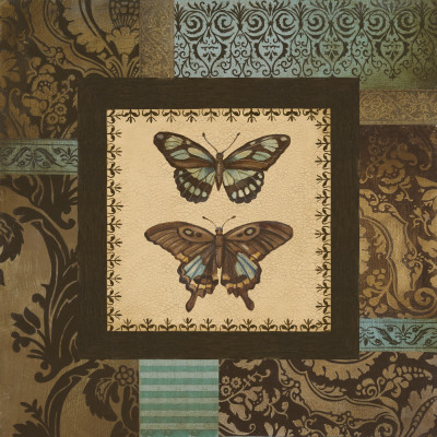 Butterfly Garden I Prints by Kimberly Poloson