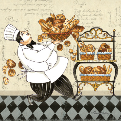 Chef Bread Art Print