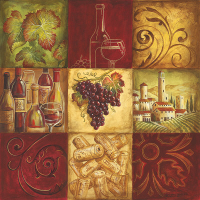 Tuscan Wine II Poster by Gregory Gorham