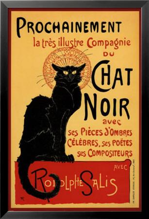 Den sorte kats rundrejse, Tournee du Chat Noir, ca. 1896, på fransk Lamina Framed Poster