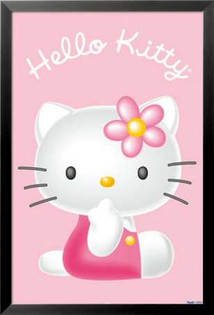 Hello Kitty Lamina Framed Poster