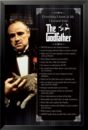The Godfather Lamina Framed Poster