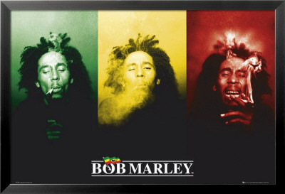 Bob Marley Posters plastifis encadrs