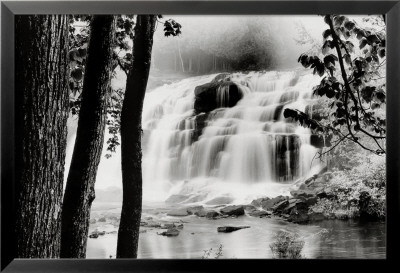 Waterfall Lake Lamina Framed Poster