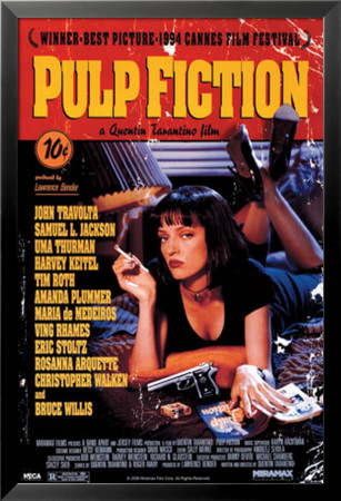 Pulp Fiction Lamina Framed Poster