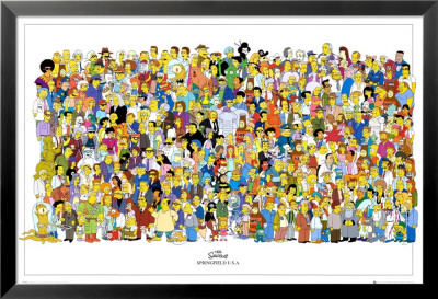 The Simpsons Lamina Framed Poster