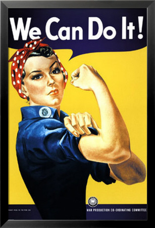 We Can Do It! (Rosie the Riveter) Lamina Framed Poster