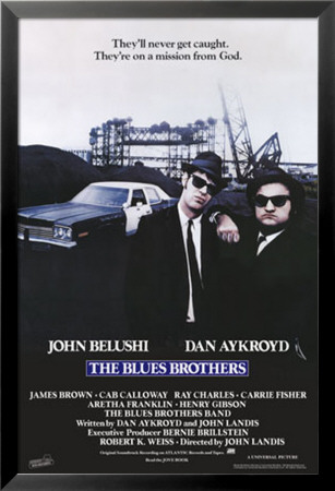 The Blues Brothers Lamina Framed Poster