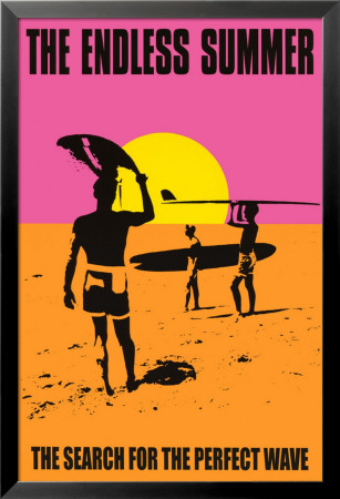 Den endeløse sommer, på engelsk Lamina Framed Poster