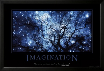 Imagination Lamina Framed Poster