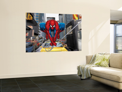 Spider-Man In the City Wall Mural