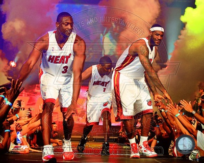 Dwyane Wade, LeBron James, & Chris Bosh 2010 Welcome Party Foto