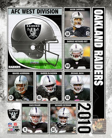 2010 Oakland Raiders Team Composite Photo