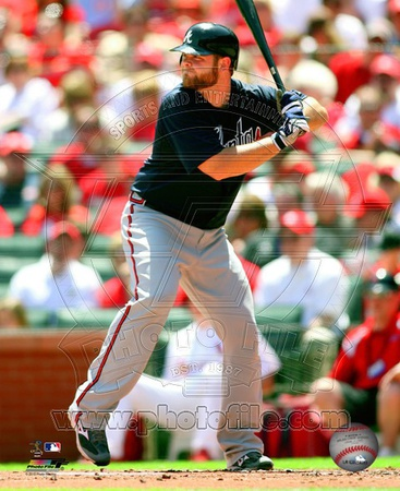 Brian McCann 2010 Action Photo