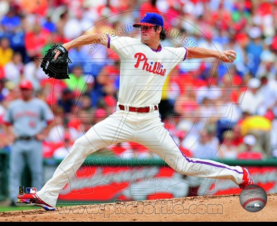 Cole Hamels 2010 Action Photo
