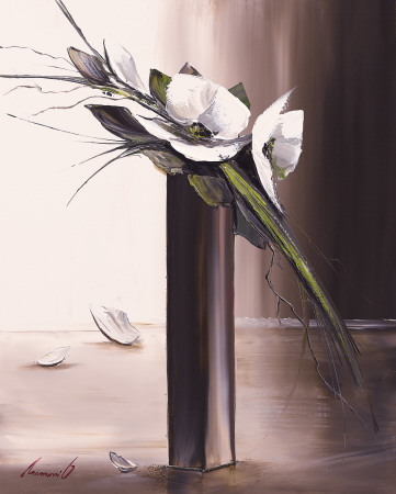 Bouquet Blanc II Reproduction d'art