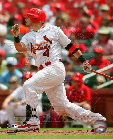 Yadier Molina 2010 Action Photo