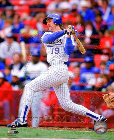 Milwaukee Brewers Robin Yount 1992 Action Photo