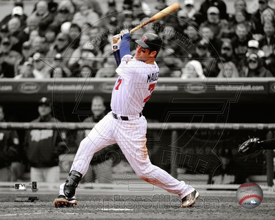 Joe Mauer 2010 Spotlight Action Photo