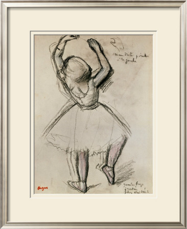 Backview of a Dancer Framed Giclee Print