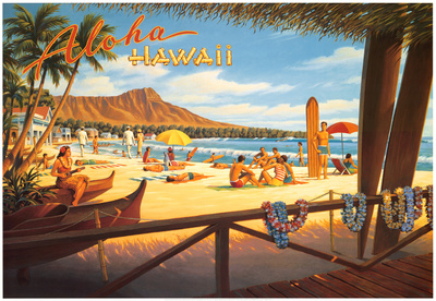 Aloha Hawaï Reproduction d'art