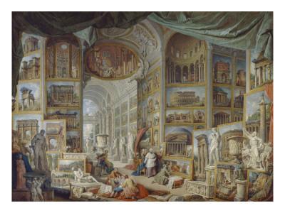 galerie de vues de la rome antique gicl 233 e tryk af paolo pannini p 229 allposters dk