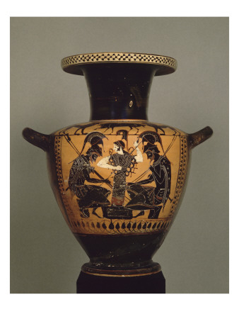 Black Figure Hydria: Achilles and Ajax Playing Dice Giclee Print