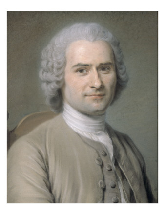 Jean-Jacques Rousseau (1712-1778) reproduction procédé giclée
