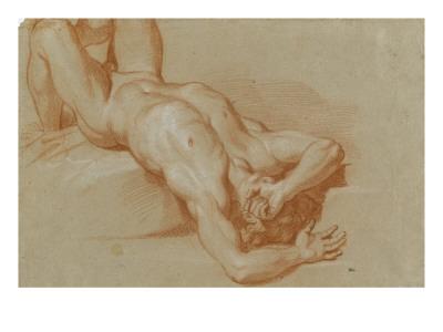 Homme nu, précipité Giclee Print by Charles Le Brun