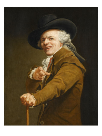 Portrait of the Artist in the Guise of a Mockingbird Giclee Print by Joseph Ducreux