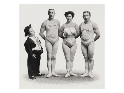 The 4 Bernhards. marvellous Gymnasts (1909) reproduction procédé giclée