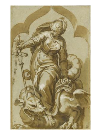 Sainte Marguerite terrassant le dragon- Paolo Farinati (1524-1606)