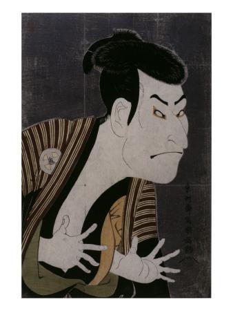 L'acteur Otani Oniji III Giclée-tryk af Tôshûsai Sharaku