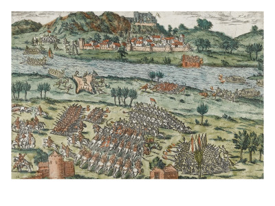 The Passage of the Rhone in Dauphine (March 28, 1570) Giclee Print