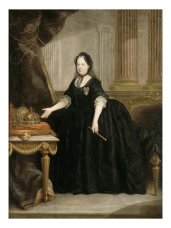 Marie-Thérèse de Habsbourg Impératrice d'Autriche, (1717-1780) Reine de Hongrie en 1740 et de Giclée-tryk
